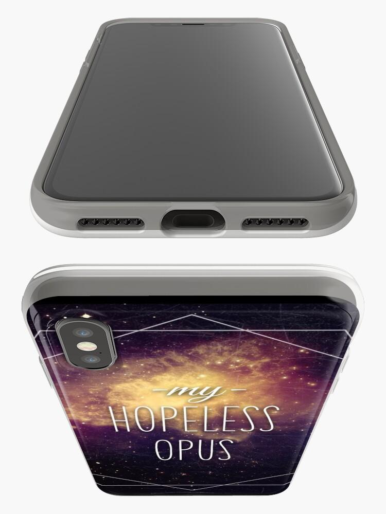 Vista alternativa de Funda y vinilo para iPhone Hopeless Opus letra en español