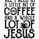 'A Whole Lot Of Jesus' Amazing Christians Cross Gift by leyogi