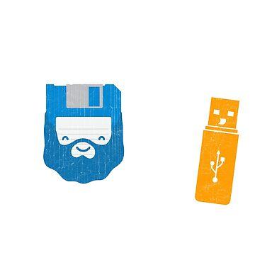 Floppy Disk USB Code Programmer Tshirt by mjacobp