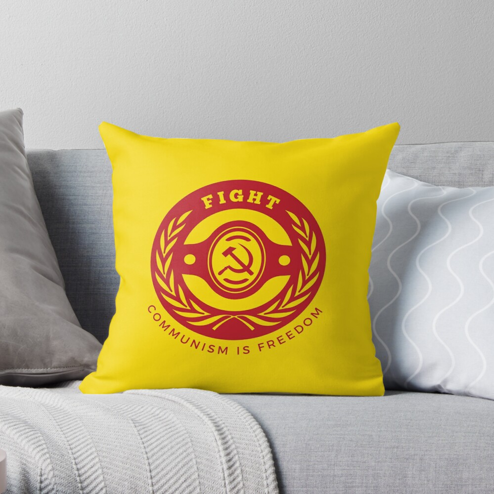 Fight For Freedom Communist Throw Pillow