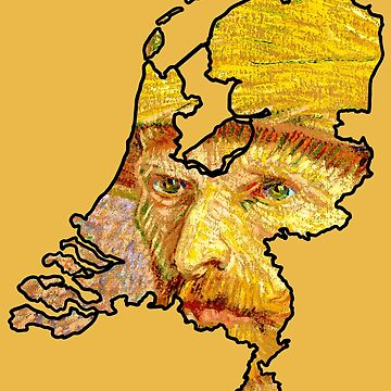 Van Gogh Self Portrait with Straw Hat – Netherlands (Famous Dutch Painting) by From-Now-On