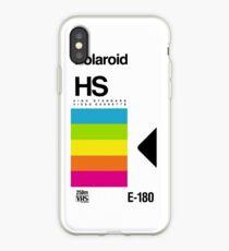 Vinilo o funda para iPhone Retro VHS tape vaporwave aesthetic rainbow