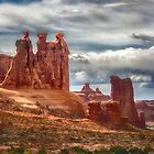 The Three Gossips - Arches National Park by Kathy Weaver