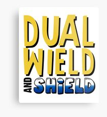 Dual Wield and Shield Awesome Gamer Design Metal Print