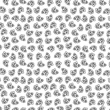 Black and White Doodle Roses by TimorousEclectc