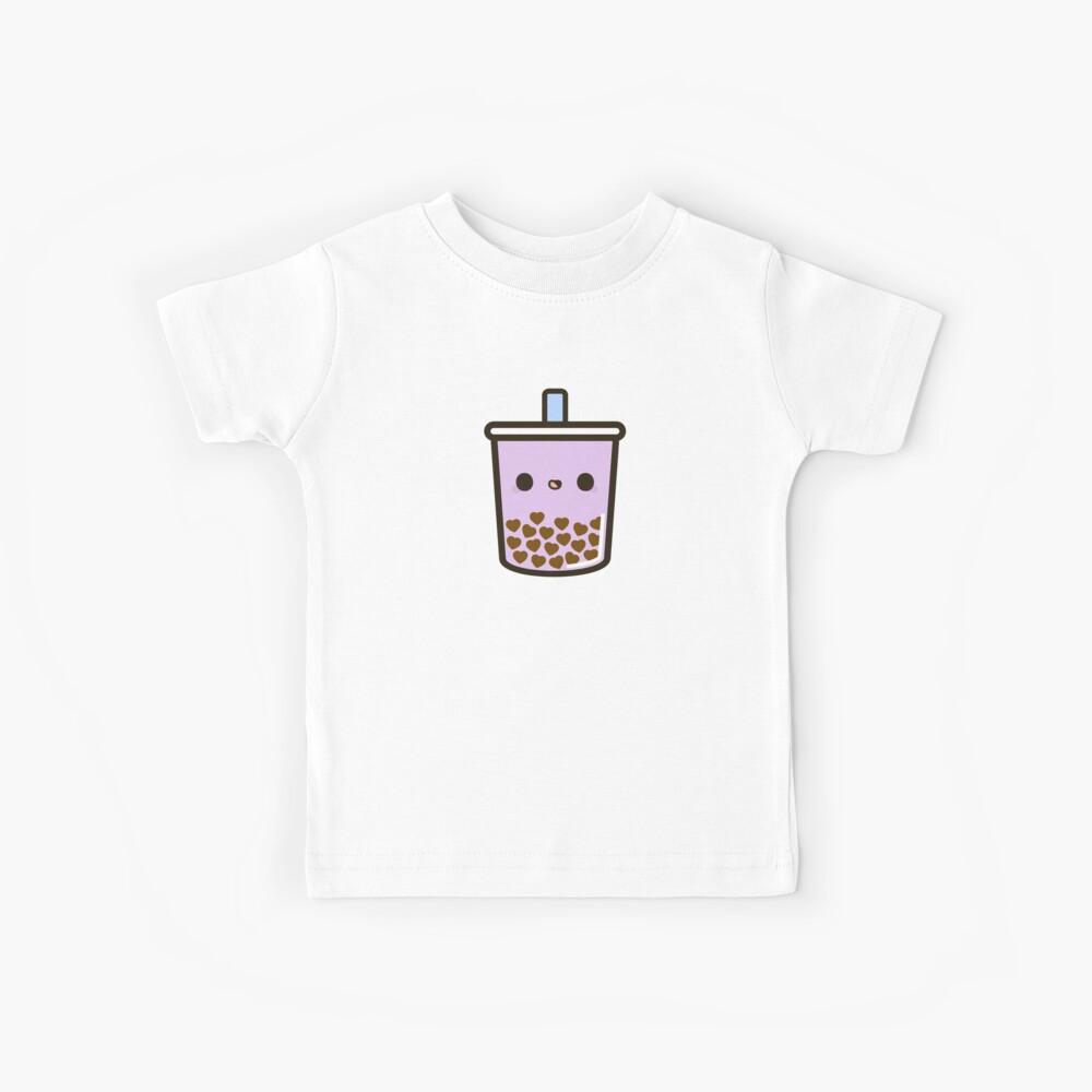 Cute Love Heart Bubble Tea Kids T-Shirt