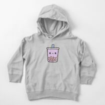 Cute Love Heart Bubble Tea Toddler Pullover Hoodie
