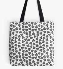 Striped Heart Doodle Pattern Tote Bag