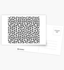 Striped Heart Doodle Pattern Postcards