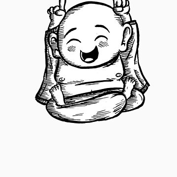 Happy Buddhist by Xandford
