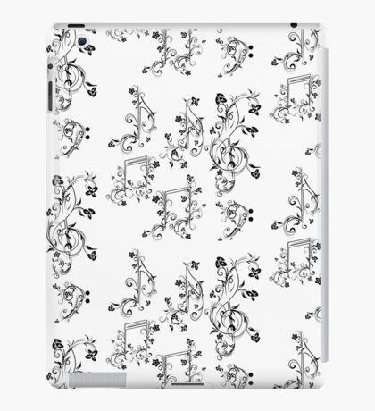 Blumenmusiknoten iPad-Hülle & Klebefolie