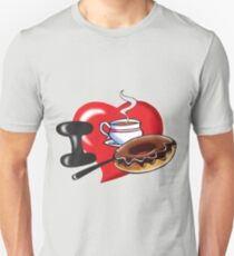 I Love Coffee and Donuts T-Shirt