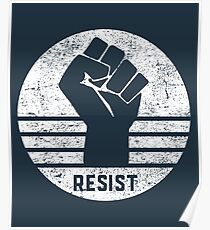 Resist Fist Womens Wave March Poster