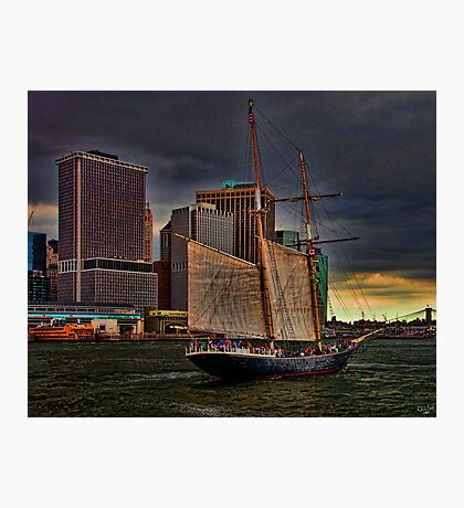 Sailing into the East River, New York City Photographic Print
