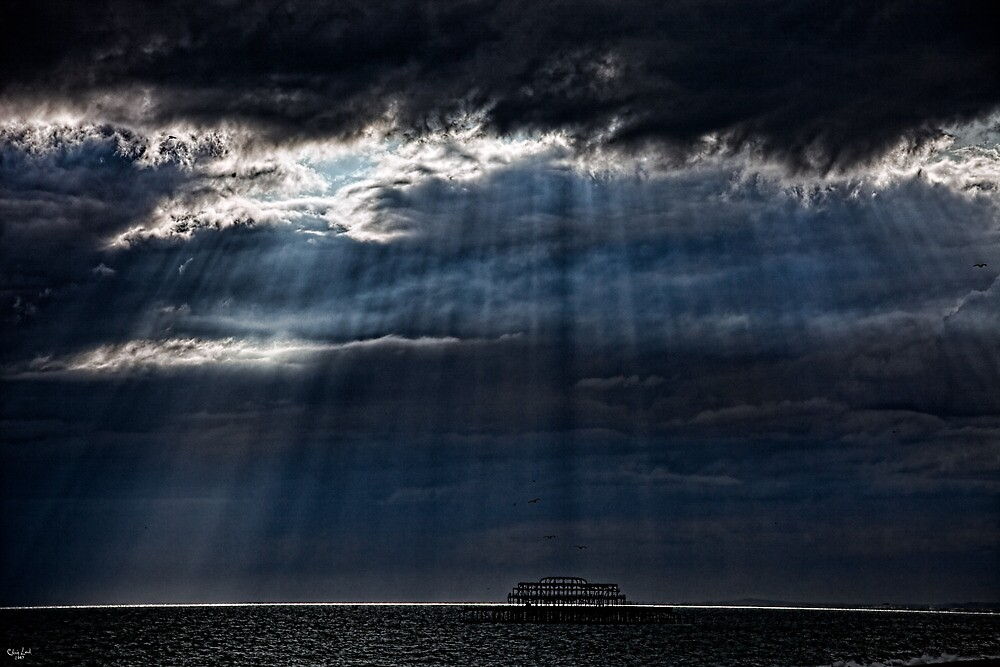 A Dark and Cloudy Day On The Seafront by Chris Lord