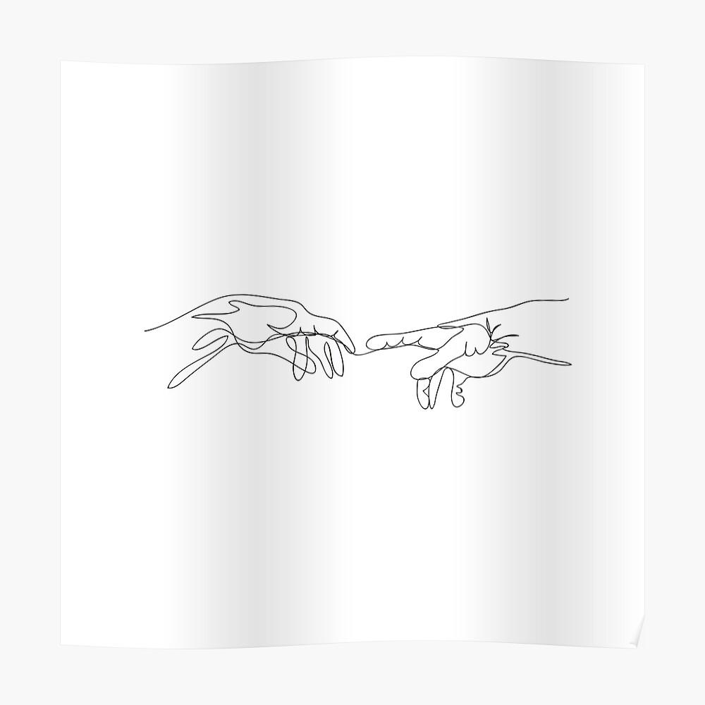 Michael Angelo, Strichzeichnungen. Poster