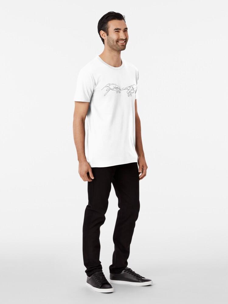 Alternative Ansicht von Michael Angelo, Strichzeichnungen. Premium T-Shirt