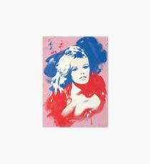 B. B. - Pop Art Fashion Icons Art Board Print