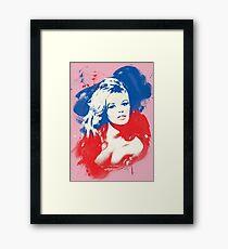 B. B. - Pop Art Fashion Icons Framed Print