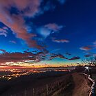 Colorful sunset in the italian vineyards by zakaz86