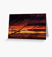 bonnie winter sunset no.1 Greeting Card