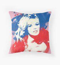 B. B. - Pop Art Fashion Icons Throw Pillow