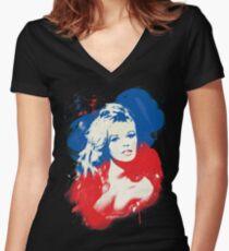 B. B. - Pop Art Fashion Icons Fitted V-Neck T-Shirt
