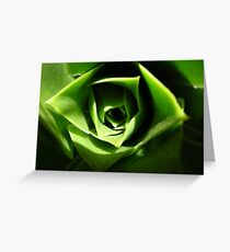 the green beauty Greeting Card
