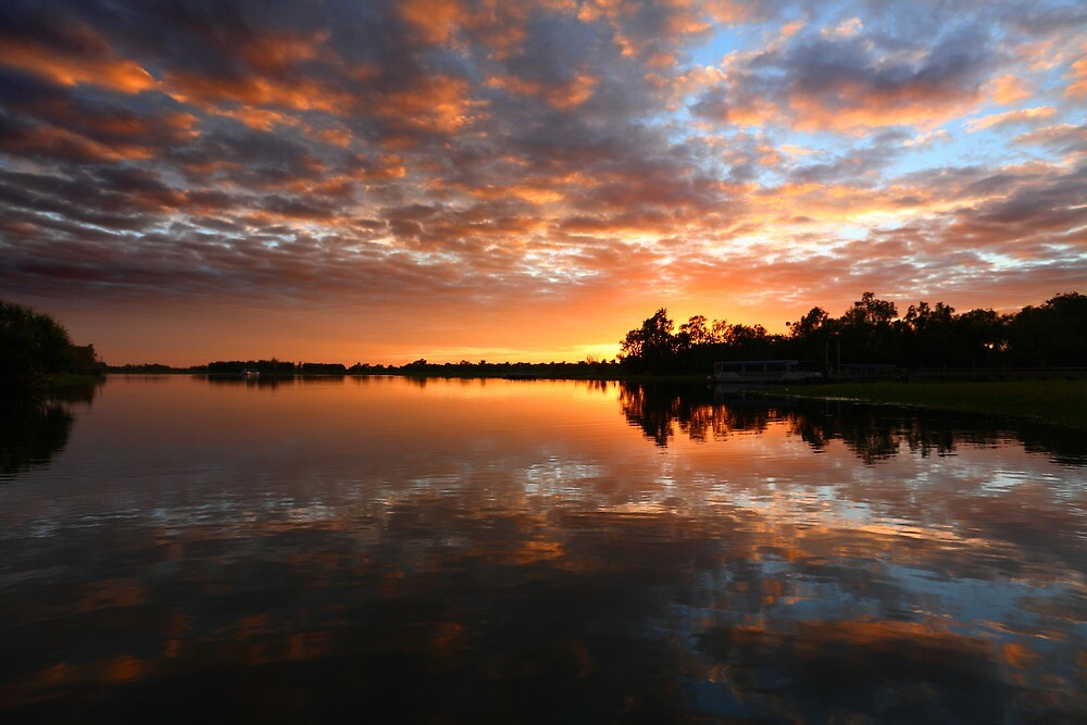 Yellow Water Dawn - Kakadu National Park by David Morgan-Mar