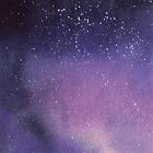 Galaxy in purple and violet by Sandra Connelly