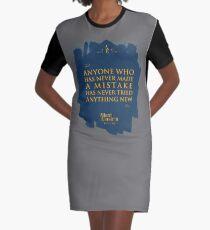 Vestido camiseta Cita de: Albert Einstein sobre errores - Camisetas, pósters, pegatinas y regalos