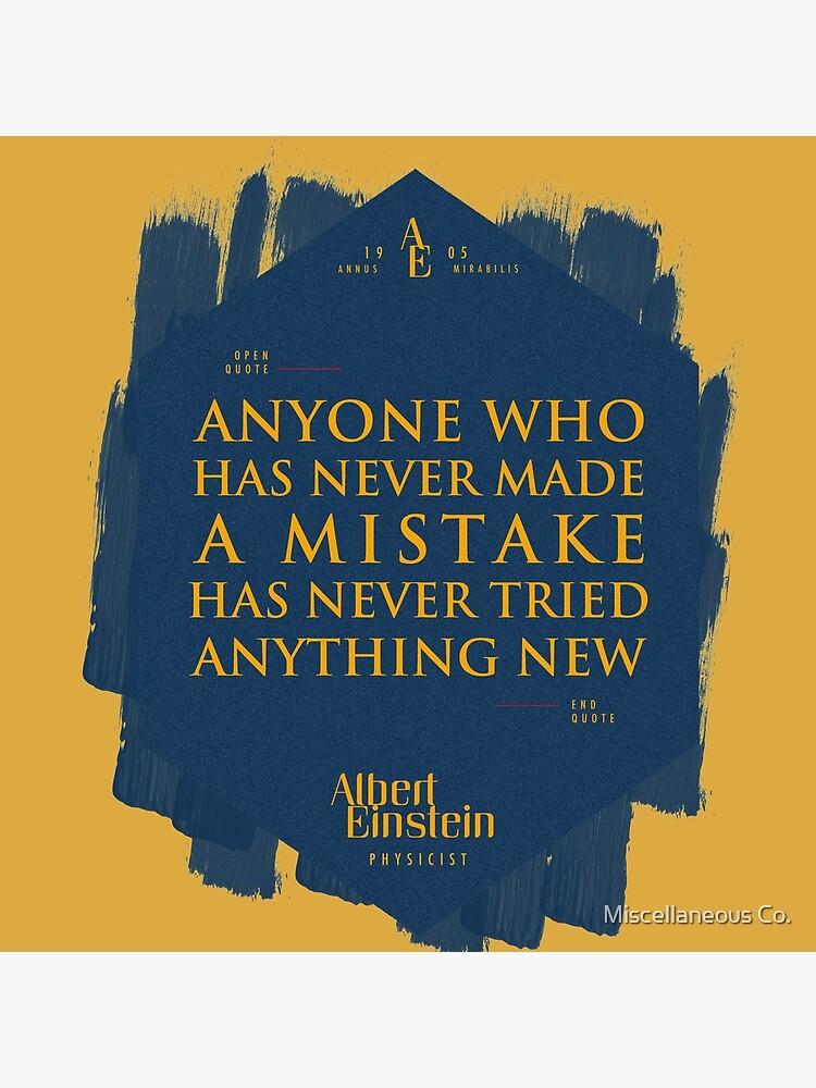 Cita de: Albert Einstein sobre errores - Camisetas, pósters, pegatinas y regalos de tasnim-saadon