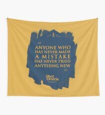 Tela decorativa Cita de: Albert Einstein sobre errores - Camisetas, pósters, pegatinas y regalos