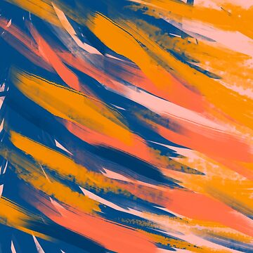 Abstract brush strokes background by arsvik
