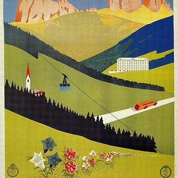 Vintage Alto Adige South Tirol Italian travel ad by aapshop