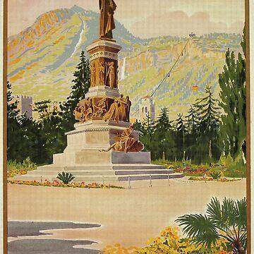 Vintage Trento Trent Italian travel ad by aapshop
