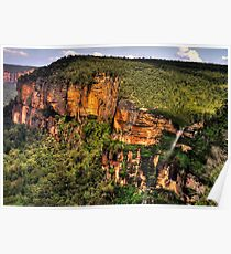 Awesome - Govetts Leap Lookout and Falls - The HDR Experience Poster