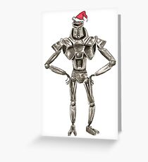 Christmas Cylon in a Santa Hat Greeting Card