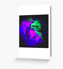 Trippy Abstract Oil Mix Greeting Card