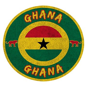 Ghana vintage design with lion gift flag by Rocky2018