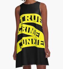 True Crime Junkie - Crime Scene Tape - Police Line A-Line Dress