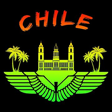 Chile Palace with palms colorful / gift by Rocky2018