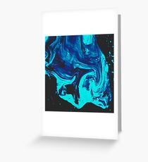 Ice Veins Abstract Paint Greeting Card