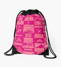 N++ Levels - Pink! Drawstring Bag