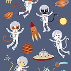 Space Cats by Nic Squirrell