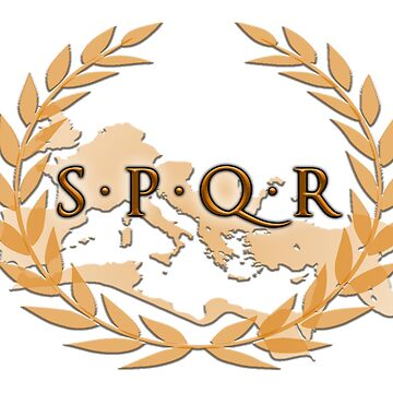 SPQR banner, emblem of the Roman Republic. by TOMSREDBUBBLE
