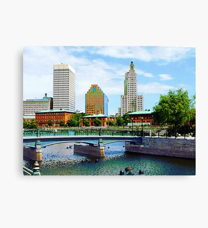 View From Waterplace Park Canvas Print