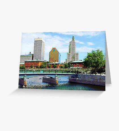 View From Waterplace Park Greeting Card
