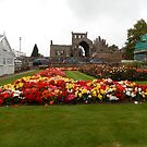 View of the Abbey Gardens, Melrose by Babz Runcie