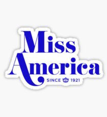 Miss America (Blue) Sticker